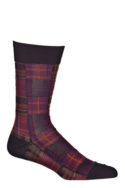Ozone Black Patchwork Calf Sock