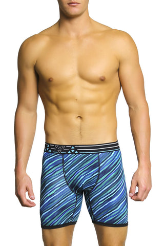 Balanced Tech Green & Blue Performance Boxer Brief