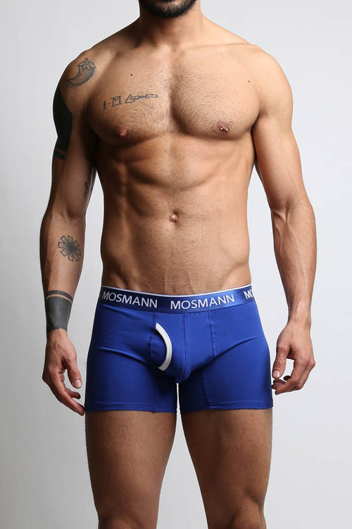 Mosmann Dark Blue Long Boxer - CheapUndies.com