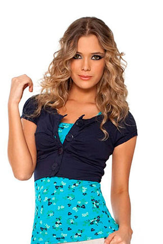 Fiory Blue Matilde Top