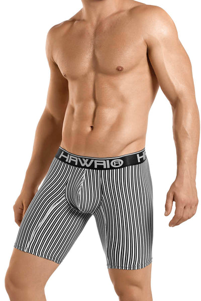 Hawai Black & White Stipe Boxer - CheapUndies.com