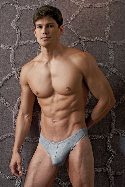 Contour Grey Luxe Jersey Thong - CheapUndies.com