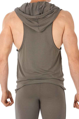 Gregg Homme Grey Sprint Hooded Tank