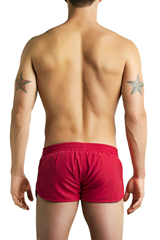 PoolBoy Red Running Shorts