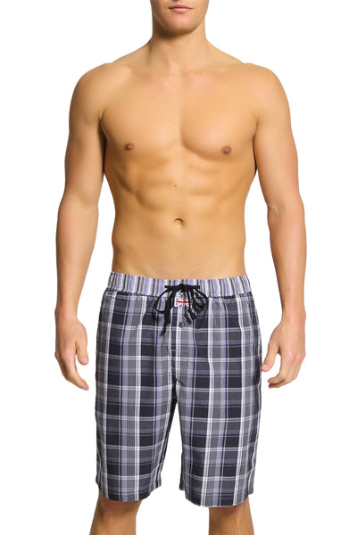 English Laundry Black Plaid Drawsting Short - CheapUndies.com