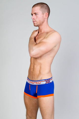 Timoteo Navy Double Crossed Boxer Brief