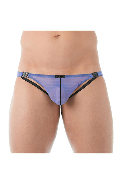 Gregg Homme Purple Mesh Suspender C-Ring Brief - CheapUndies.com