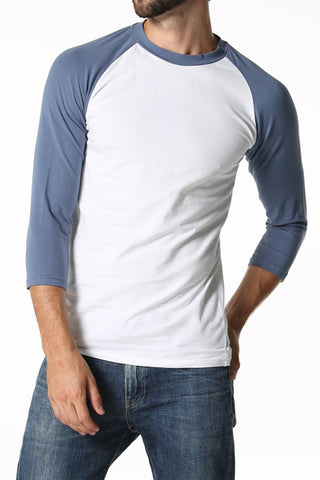 CheapUndies Navy Blue Raglan Shirt