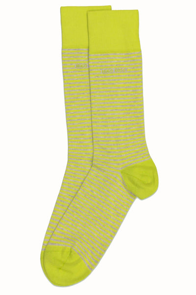 Hugo Boss Lime & Grey Stripe Sock