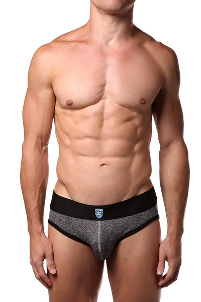 Freedom Reigns Space-Grey/Black Sport Mesh Tech Brief - CheapUndies.com