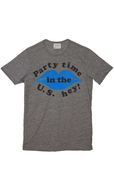 Rxmance Unisex Grey Party Time Crew Tee