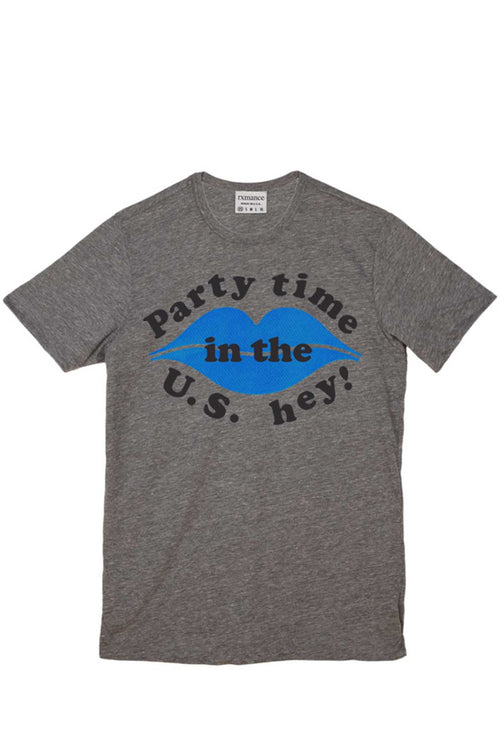 Rxmance Unisex Grey Party Time Crew Tee - CheapUndies.com