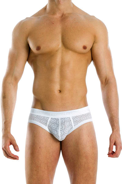 Modus Vivendi White Geo Brief - CheapUndies.com