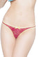 Coquette Raspberry Lace Crotchless Panty - CheapUndies.com