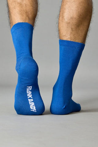 Frank Dandy Cobalt Blue Crew Sock