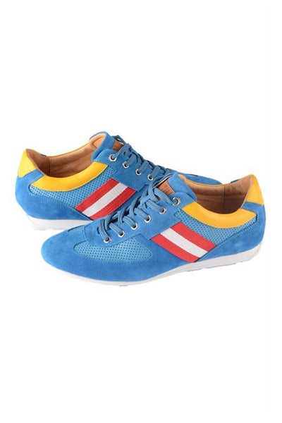PJC Platini Blue & Red Royal Sneakers - CheapUndies.com