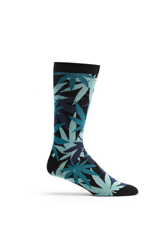 Ozone Black Weed Camo Calf Sock