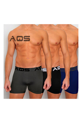 AQS 3-Pack Grey, Black, & Blue Cyclist Trunk