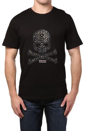 Smash Black Skull Studded Tee