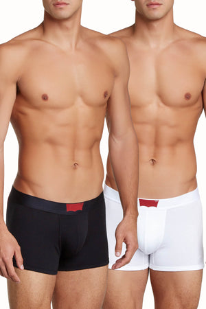 Levi's Black/White 200 Series Cotton-Stretch Boxer Brief 2-Pack