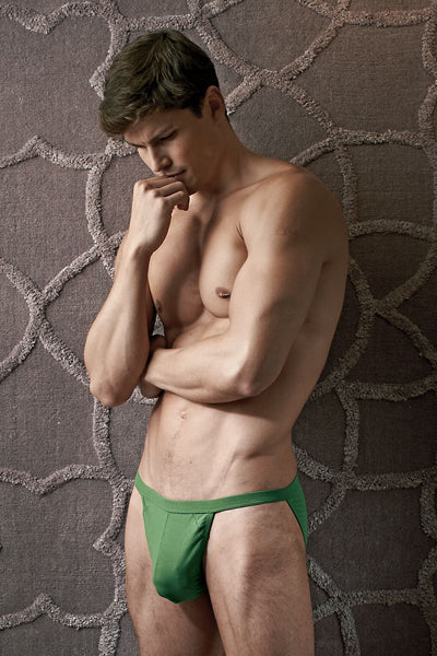 Contour Army-Green Luxe String Bikini - CheapUndies.com