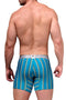 XTREMEN Turquoise Classic Stripes Boxer Brief