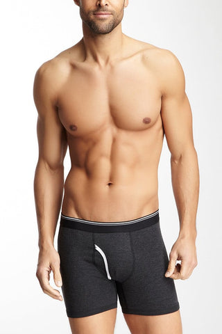 Bottoms Out Black Stripped Boxer Brief
