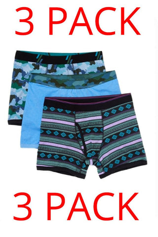 Bottoms Out 3-Pack Ikat Print Boxer Briefs