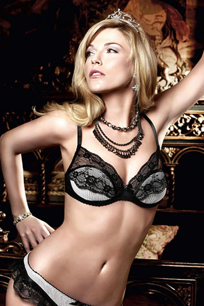 Baci Chiffon and Lace Bra with Underwire