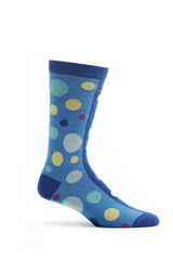 Ozone Blue Dual Dots Crew Sock