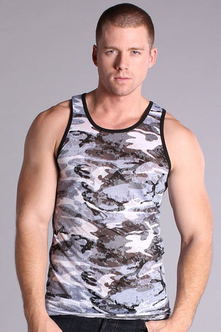 Timoteo Blue Burnout Camo Tank