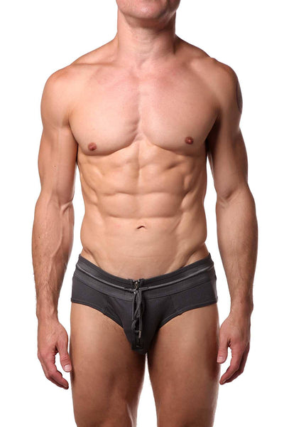 Man Zone Dark-Grey Team Brief - CheapUndies.com