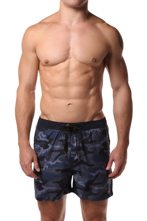 Datch Blue Camouflage Swim Short