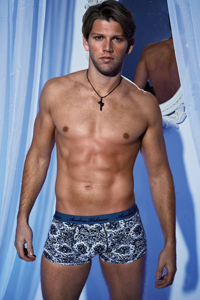 Andres Velasco Blue Paisley Trunk - CheapUndies.com