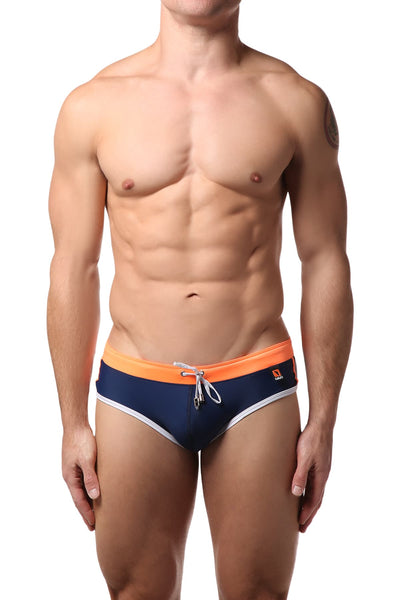 Gigo Blue & Orange Hot Swim Brief - CheapUndies.com