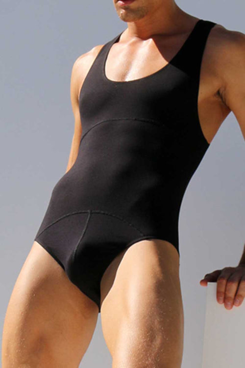 Rufskin Black Ojai Cut-Out Spandex Bodysuit - CheapUndies.com