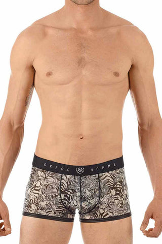 Gregg Homme Tiger Print Sheer Trunk