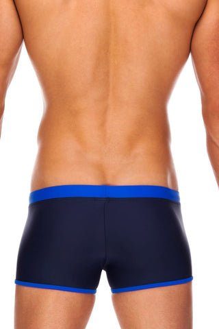 Tribe Navy & Cobalt Indian Swim Trunk