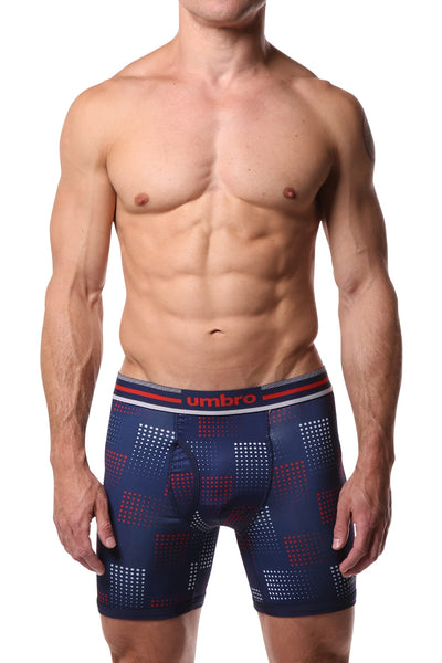 Umbro Red/Navy Dots Performance Boxer Brief - CheapUndies.com