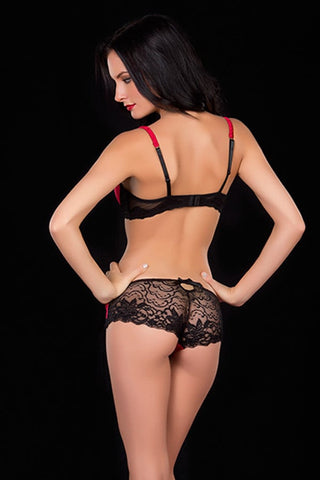 Oh La La Cheri Black & Red Molded Bra