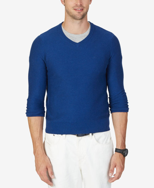Nautica Men's Textured V-Neck Sweater - CheapUndies.com