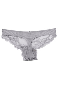 Catherine Malandrino Grey Corded Lace Thong