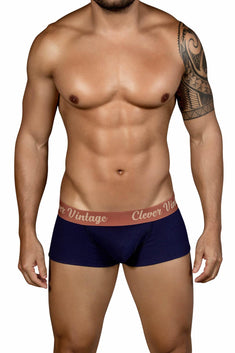 Clever Navy Old-School Open-Fly Boxer Brief