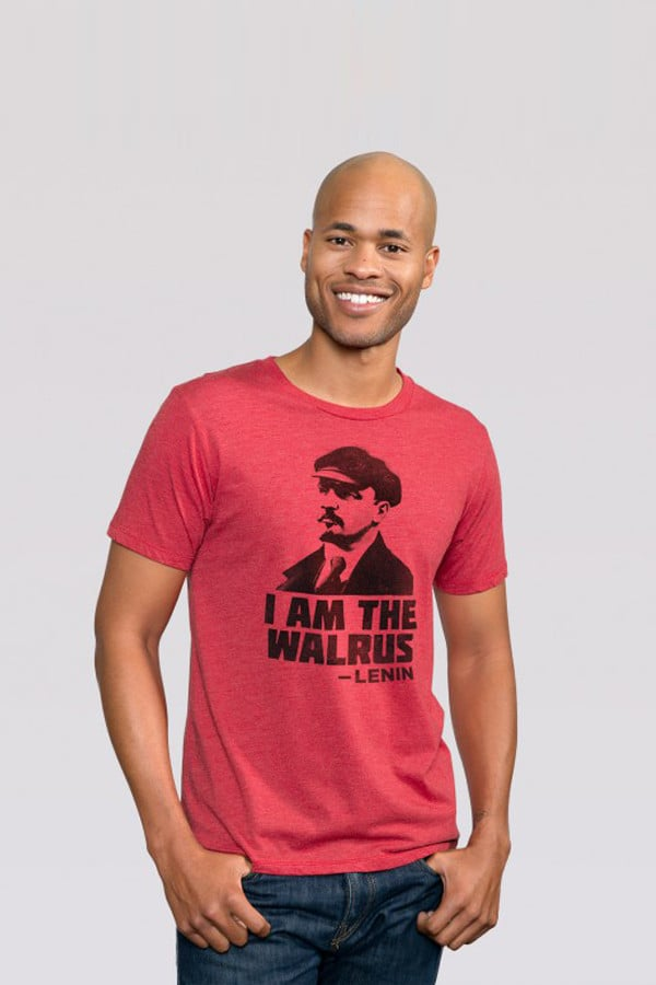 Headline Red Walrus Lenin Tee
