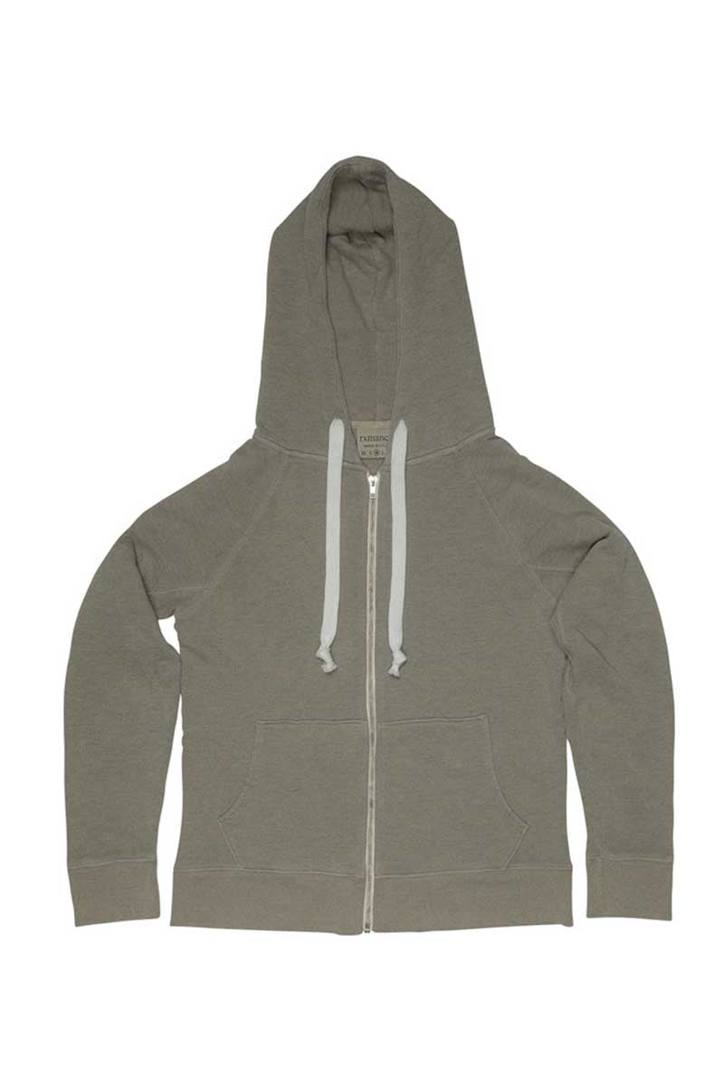 Rxmance Sport Green Hooded Zip Sweatshirt