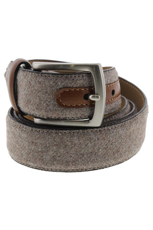 Tasso Elba Mens Fabric Faux Trim Casual Belt