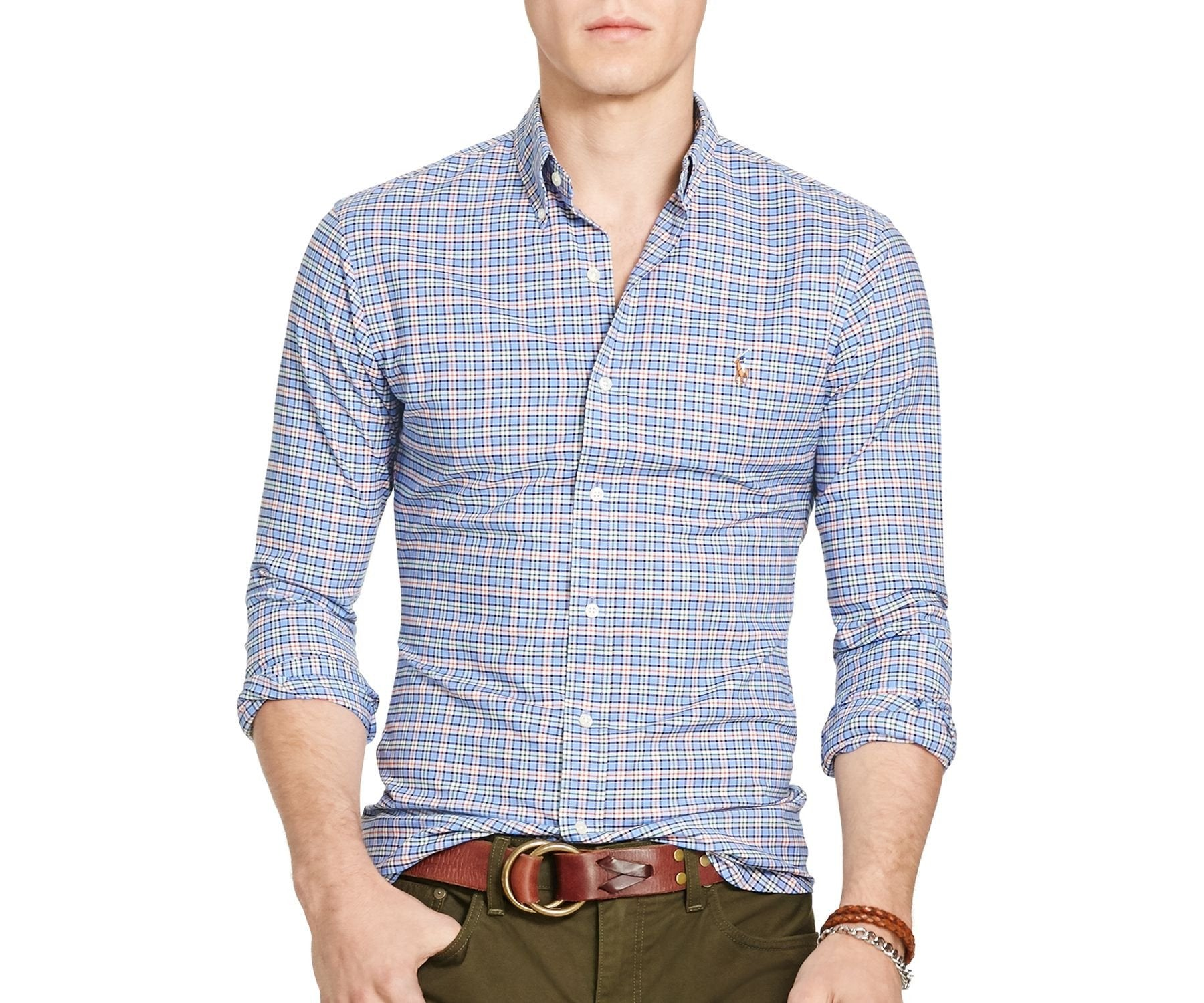Polo Ralph Lauren Men's Long-Sleeve Slim-Fit Stretch-Oxford Shirt