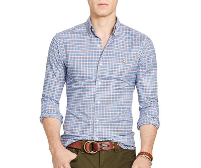 Polo Ralph Lauren Men's Long-Sleeve Slim-Fit Stretch-Oxford Shirt - CheapUndies.com