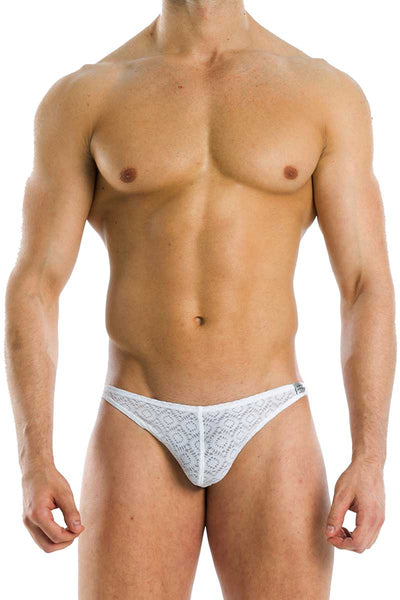 Modus Vivendi White Geo Low Cut Brief - CheapUndies.com