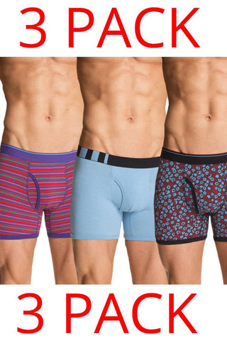 Bottoms Out Purple Stripe 3-Pack Boxer Brief
